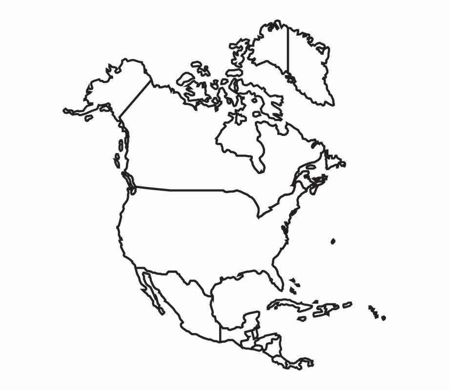 Map North America Canada Usa Mexico United.