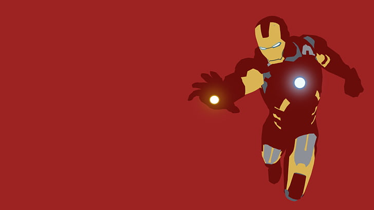 Iron Man Minimalism Desktop Art , ironman PNG clipart.
