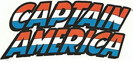 Amazon.com: Captain America Text Name Shield Capt Marvel.