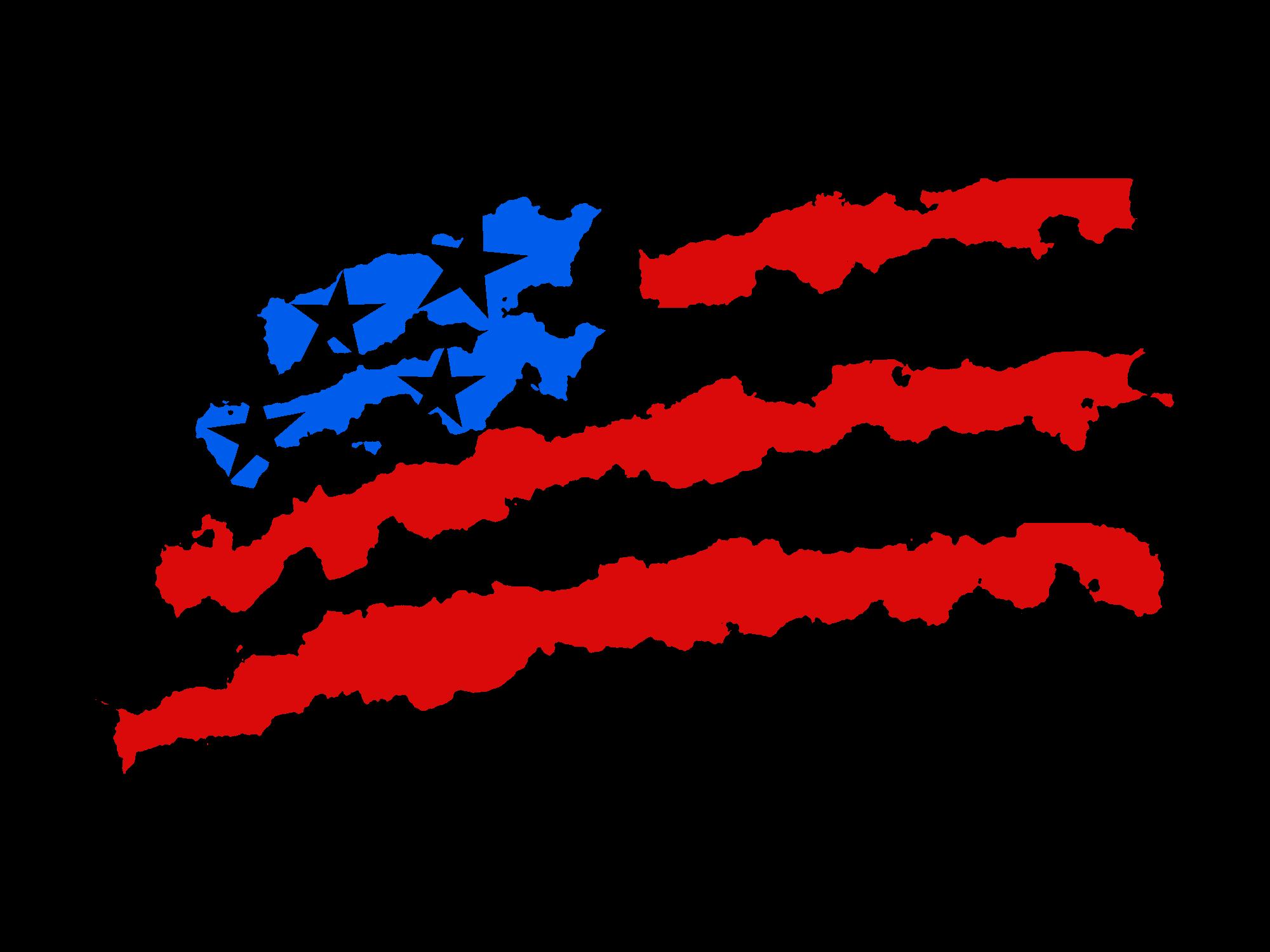 America Flag PNG.