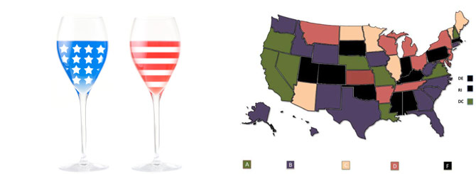 The Best States For Wine Lovers in America.