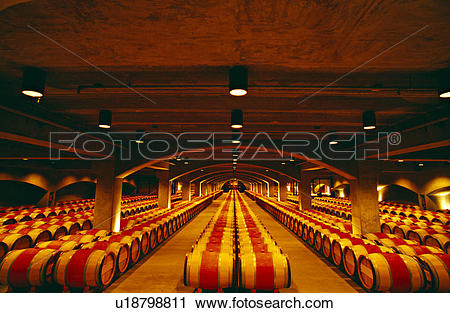 Stock Photography of Robert Mondavi Wine Cellar, Napa Valley.