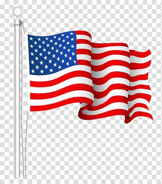 USA flag animated illustration, Flag of the United States.