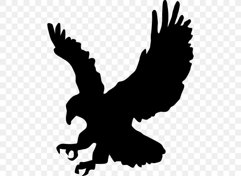 Bald Eagle Clip Art Silhouette, PNG, 498x598px, Bald Eagle.