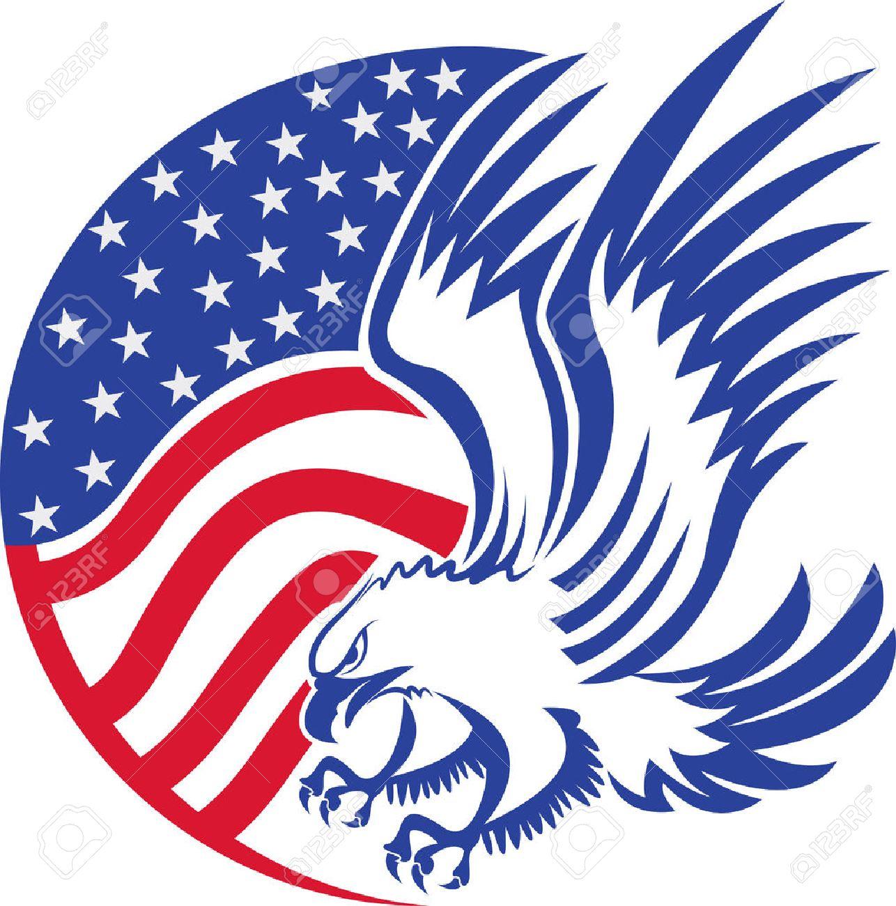 American Bald Eagle Clipart.