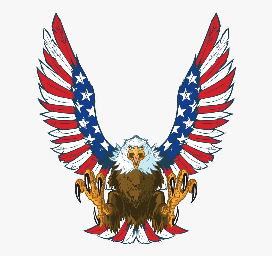 Mini Cornhole Patriotic Eagle Decals.