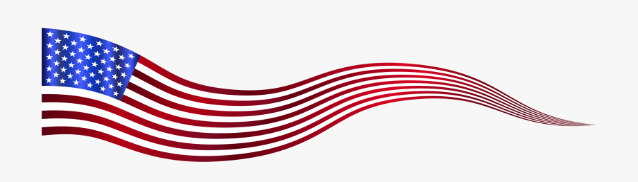 American Banner Wavy Usa Variation.