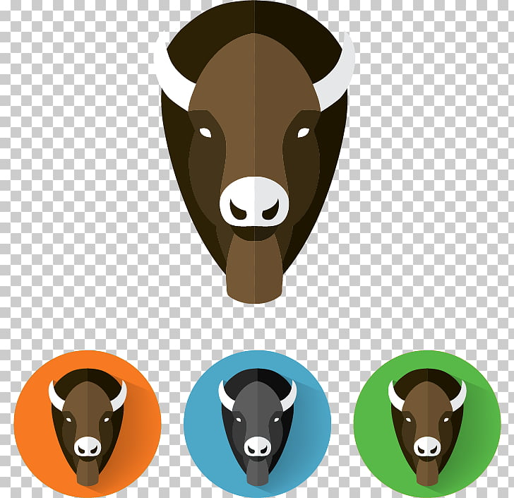 Cattle Water buffalo American bison Euclidean , Bison Head.