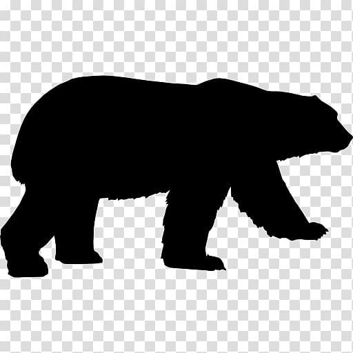 American black bear Growling , bear transparent background.
