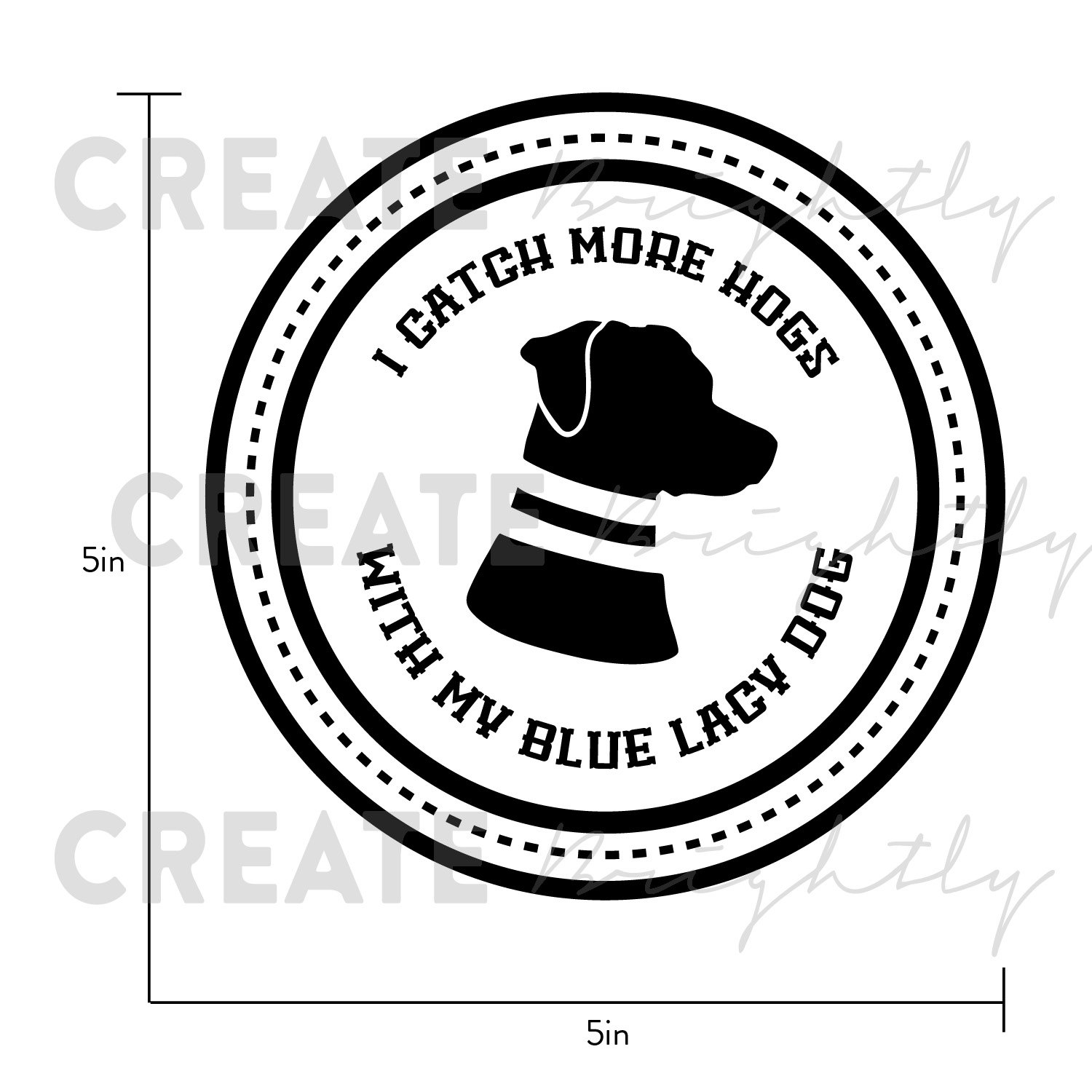 Blue Lacy Dog Vinyl Decal Sticker, Blue Lacy Dog, American Lacy.