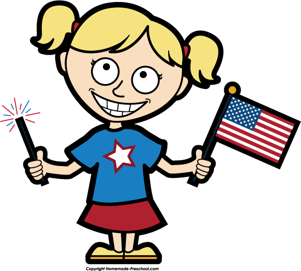 American Girl Clipart.