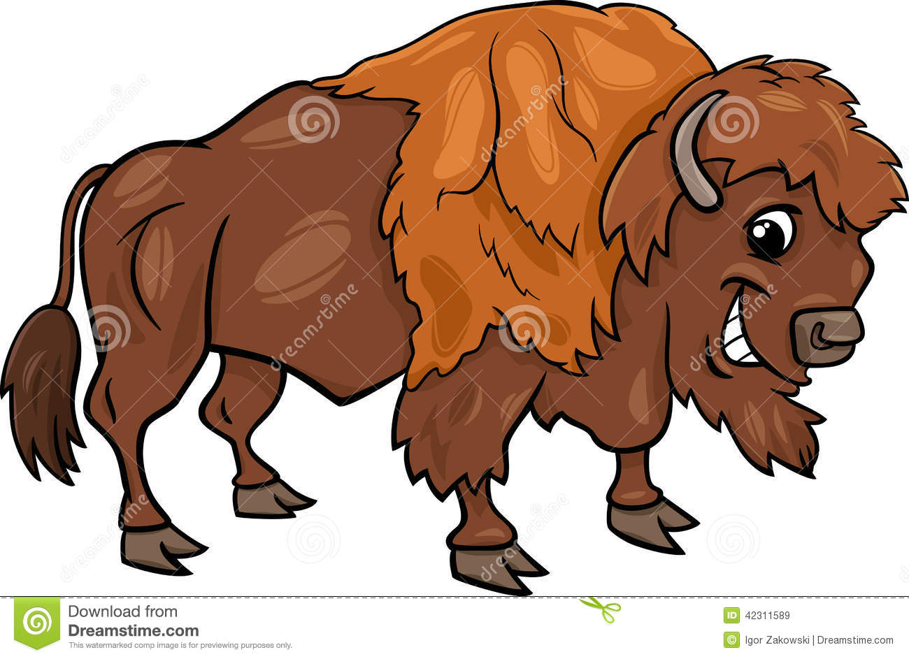 Cartoon Buffalo Clipart.