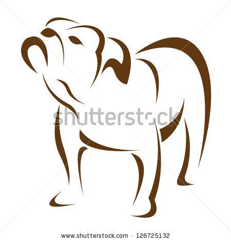English Bulldog Stock Images, Royalty.