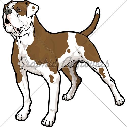 American bulldog clipart black and white.