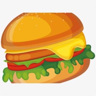 Veggie Burger Clipart Food Item.