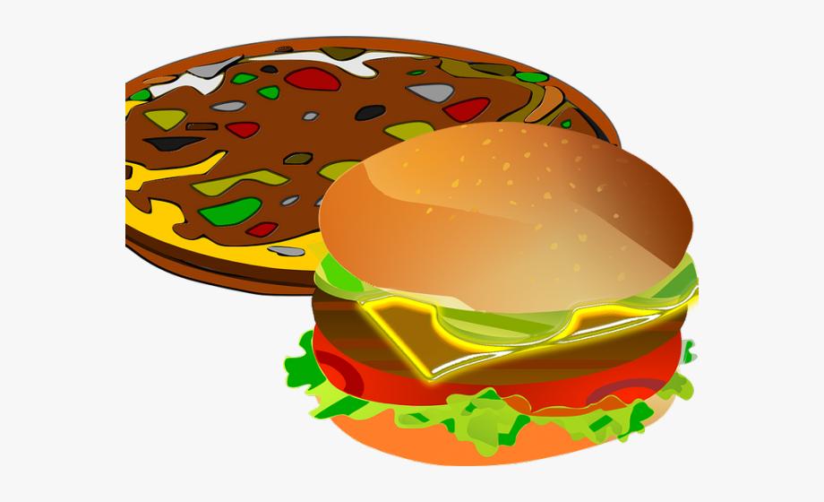 Veggie Burger Clipart Burger Pizza.
