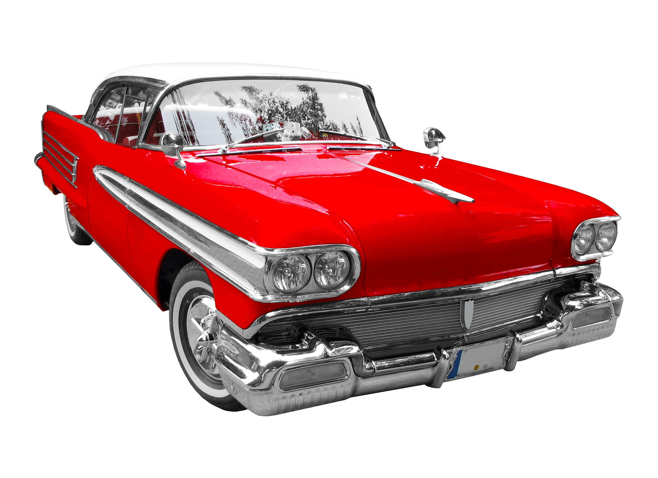 Red classic car clipart.