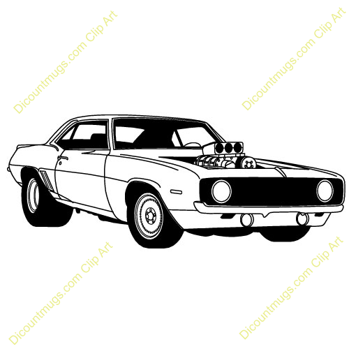 American muscle cars clipart.