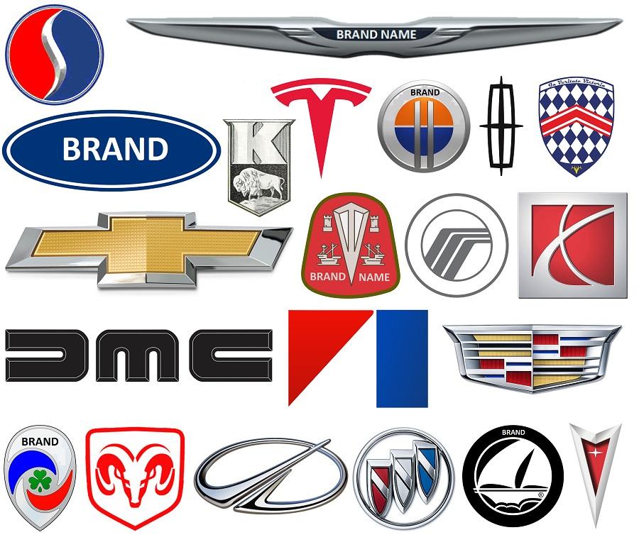 American Car Logos.