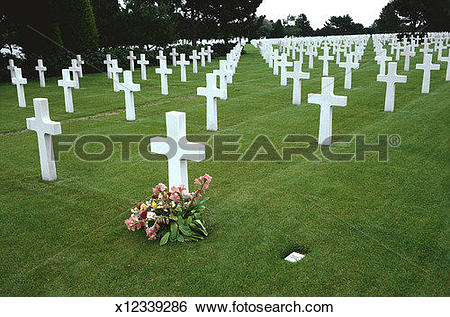 Stock Images of American Cemetery in Normandy, France x12339286.