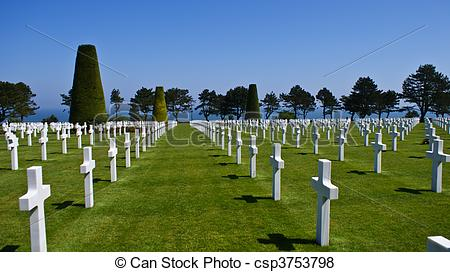 Pictures of American Cemetery at Normandy in Colleville.