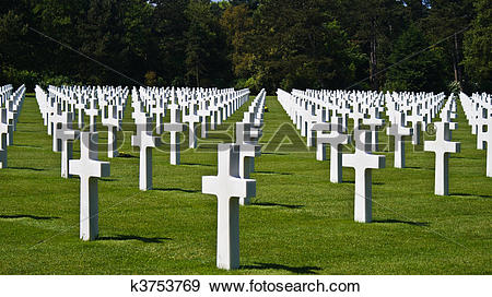 Stock Photograph of American Cemetery at Normandy k3753769.
