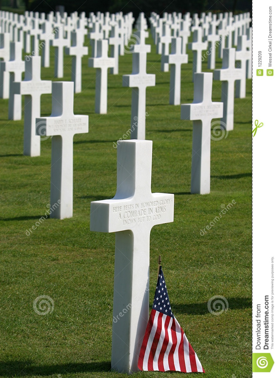 Normandy American Cemetery Royalty Free Stock Images.