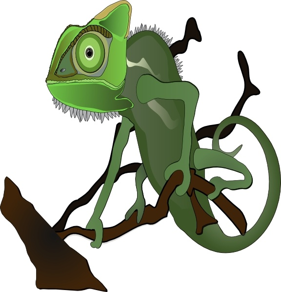 Chameleon clip art Free vector in Open office drawing svg ( .svg.