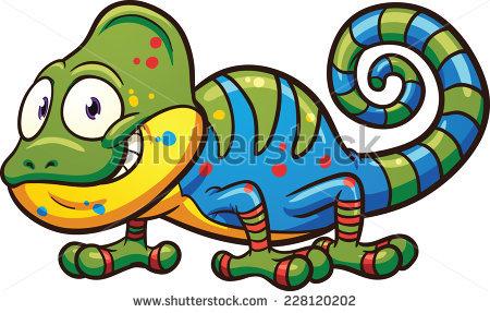 Chameleon Cartoon Stock Photos, Royalty.