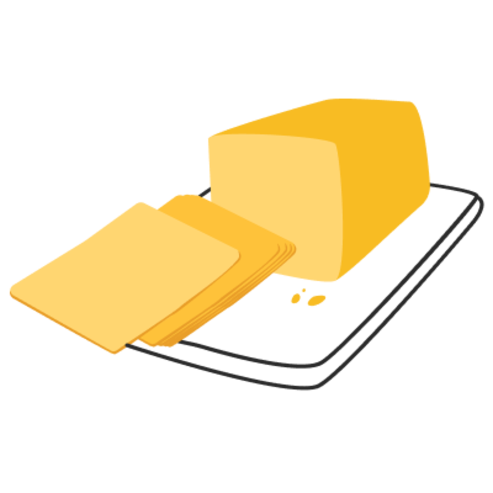 Sliced Cheeses.
