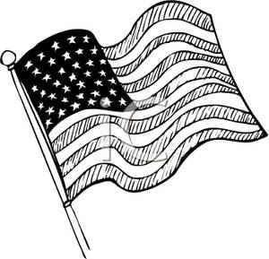 America clipart black and white, America black and white.