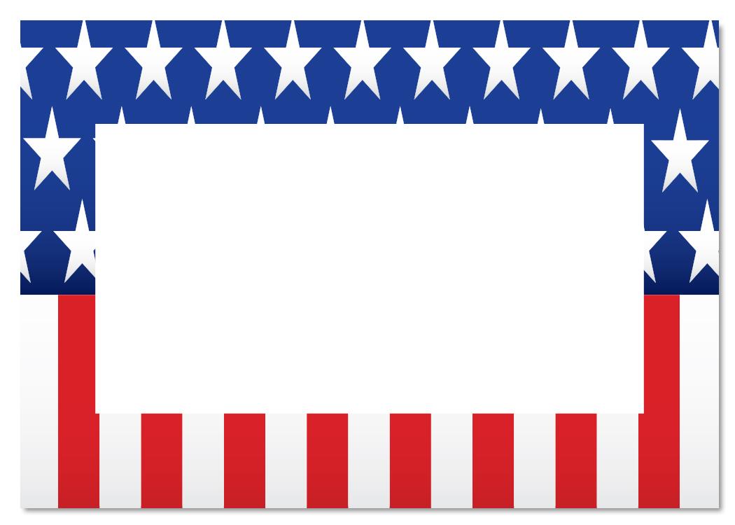 American Flag Page Border.