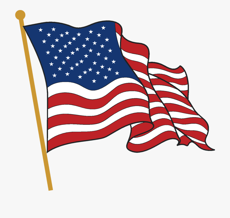 American Flag Wave Clipart.