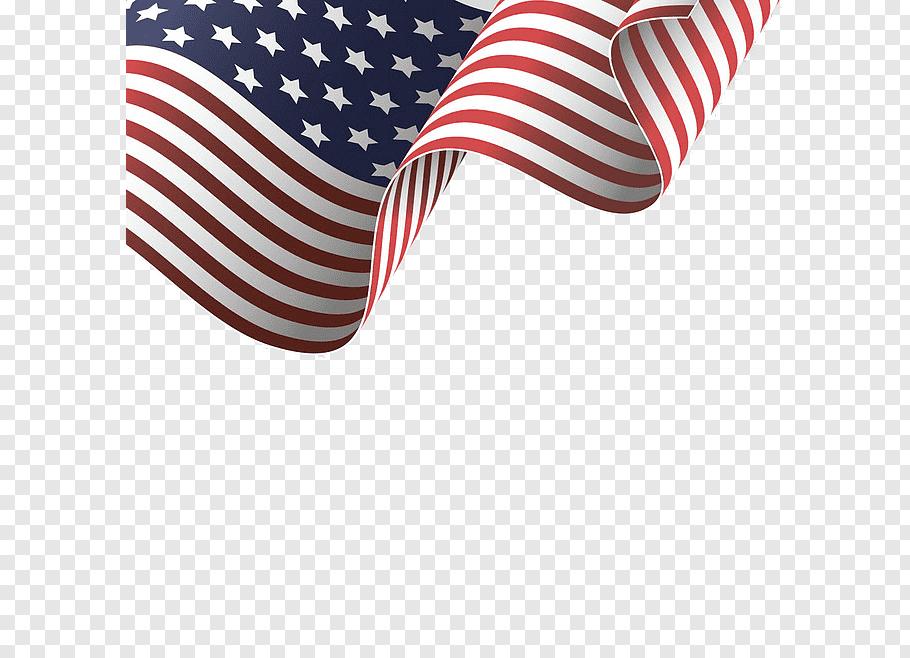 Waving USA flag illustration, Flag of the United States.