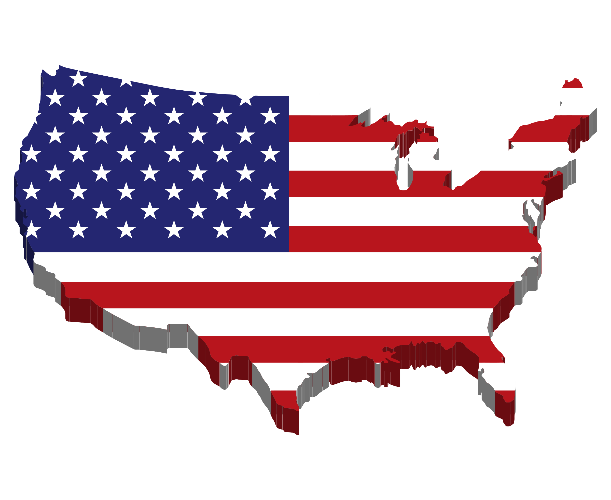 Wavy American Flag Country Clipart.