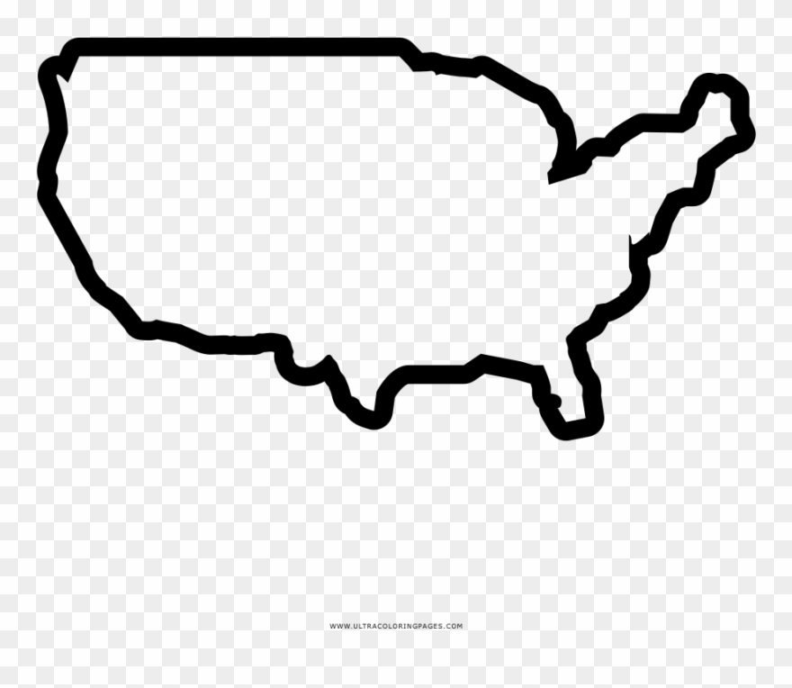 United States Map Coloring Page.