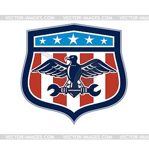 American Eagle Mechanic USA Flag Crest.