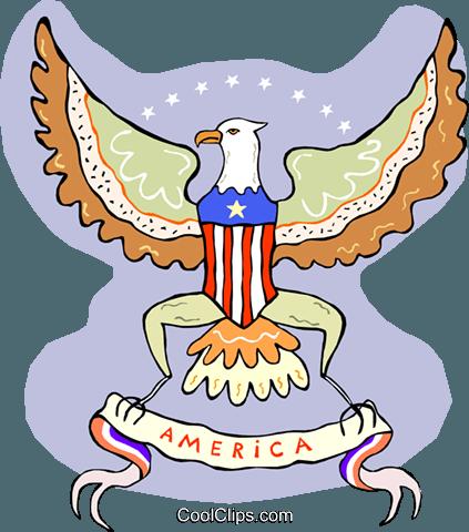 American crest Royalty Free Vector Clip Art illustration.
