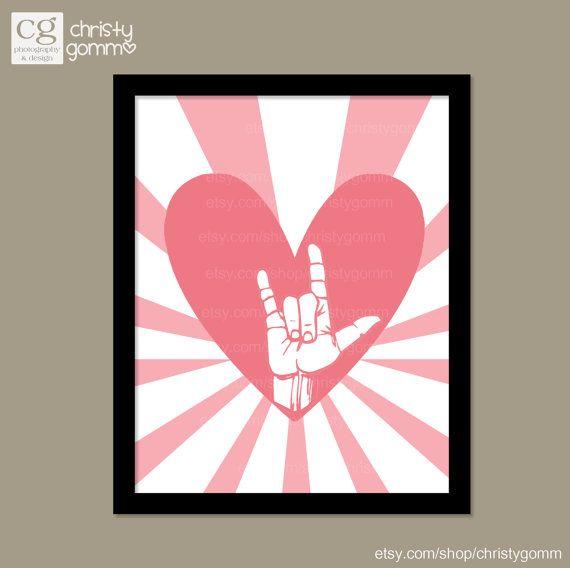 I Love You Sign Language Clip Art.