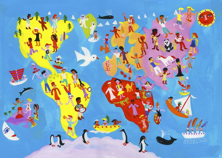 Culture Hearths and Diffusion Around the World.