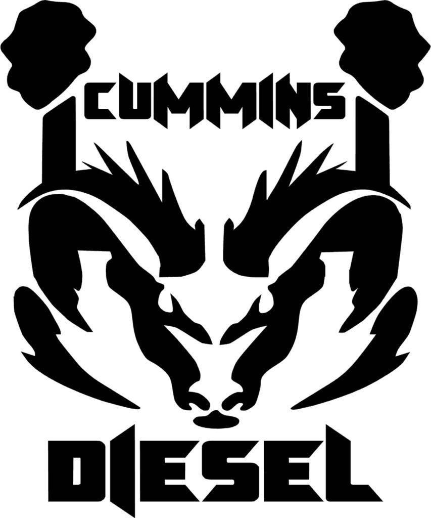 Cummins Diesel Ram Dodge Logo Vinyl Decal Sticker.