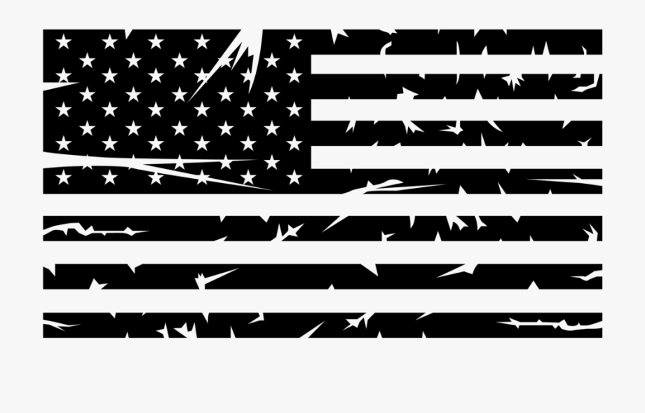 Black And White American Flag Png.