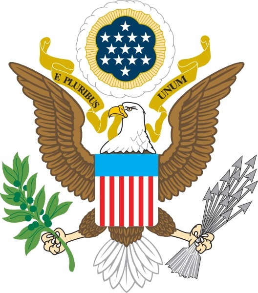 American Eagle clip art Free vector in Open office drawing svg.