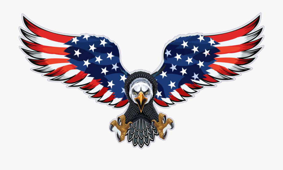 Collectibles Transportation Flying Eagle With Us Flag.