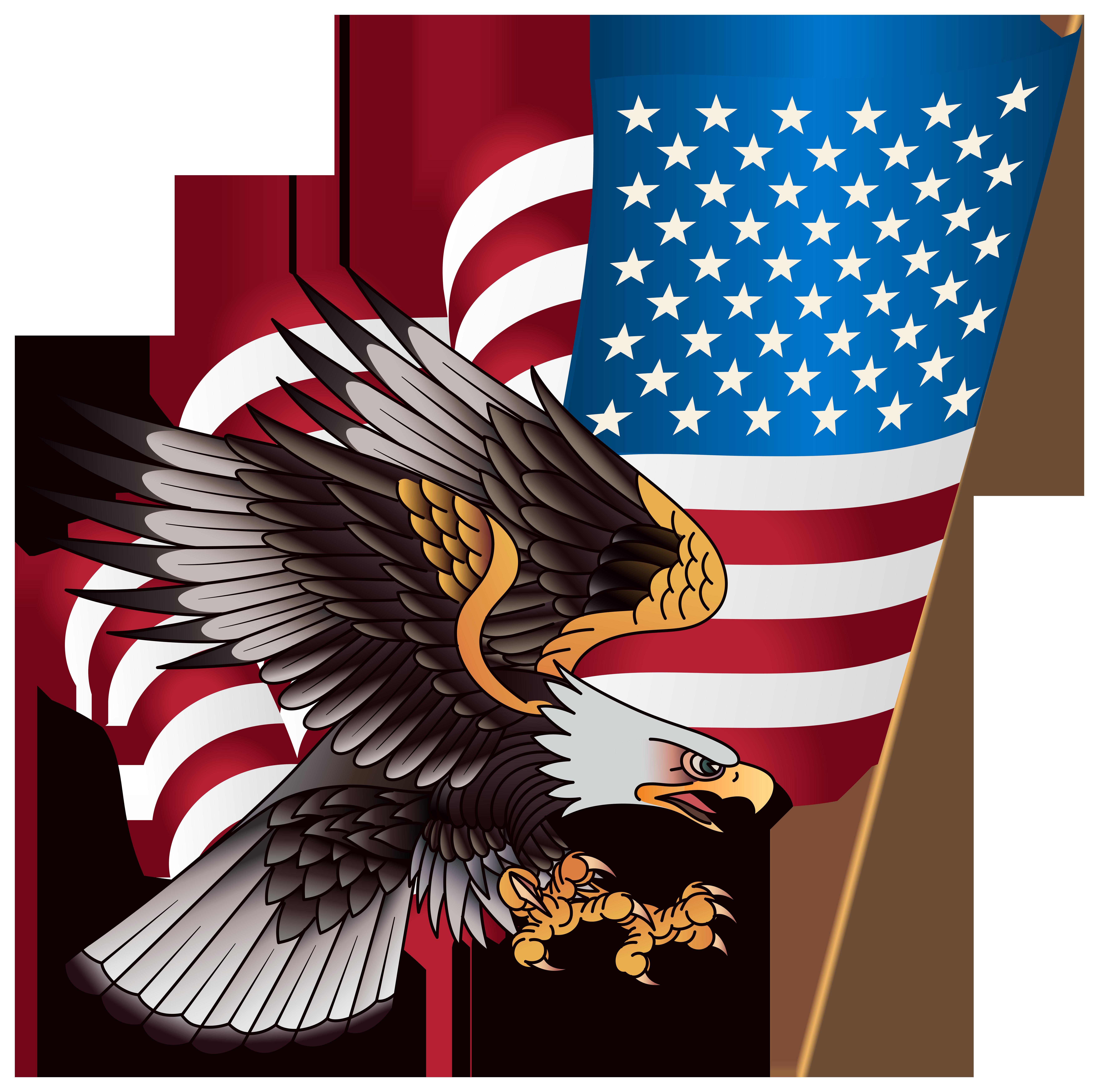 American Eagle Transparent PNG Clip Art Image.