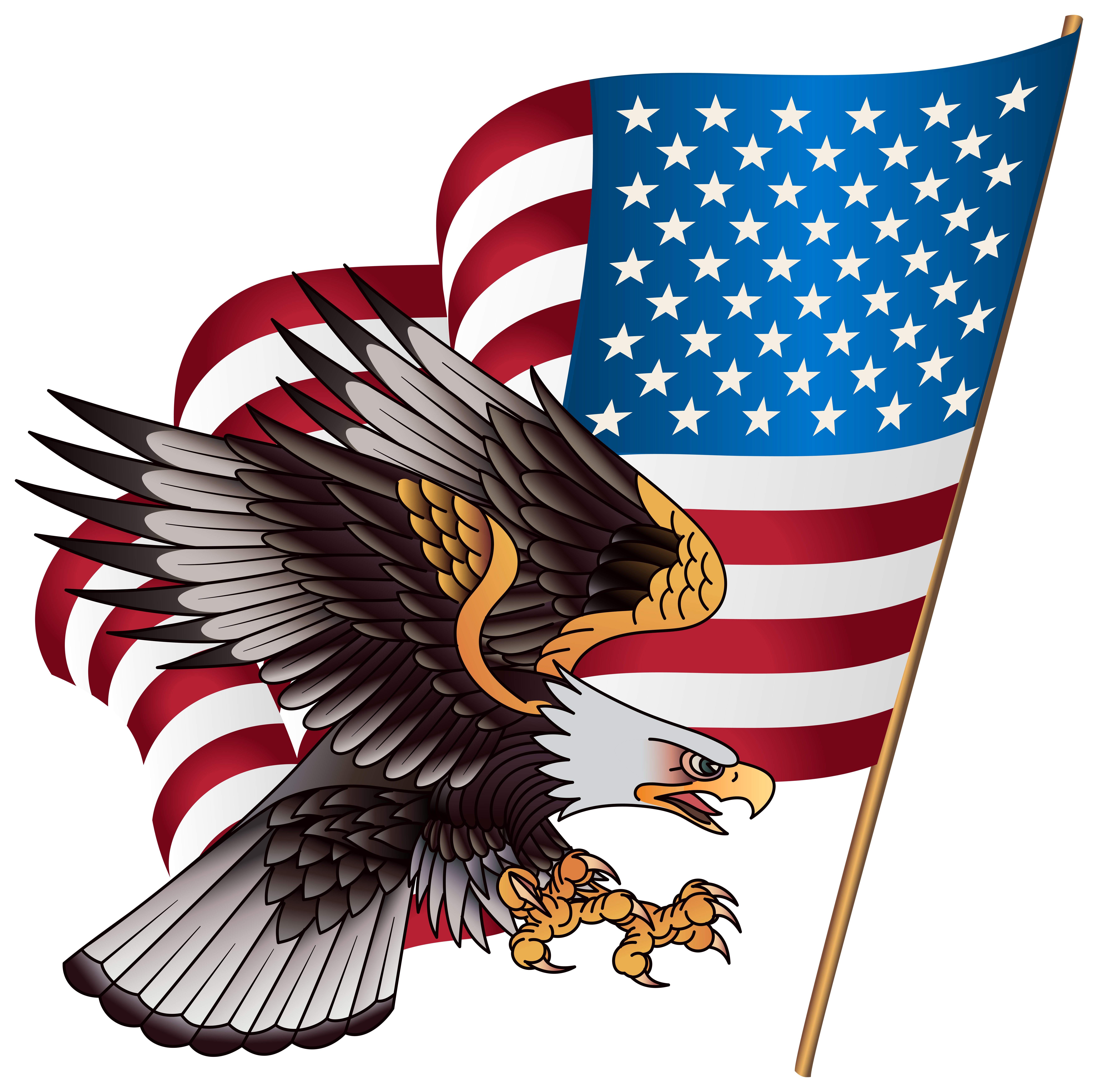 Free American Flag Eagle Png, Download Free Clip Art, Free.