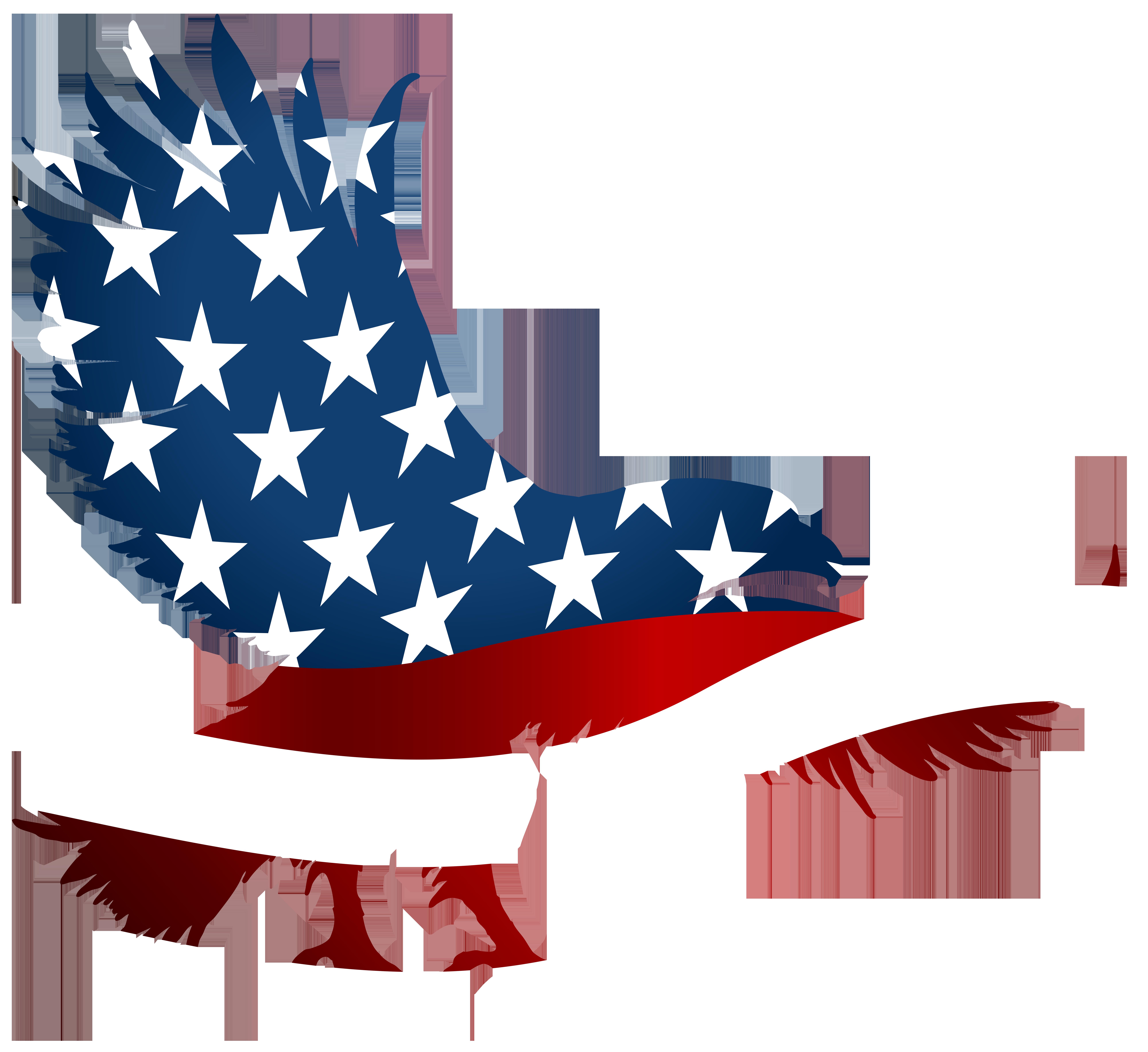 American Eagle Flag Transparent PNG Clip Art Image.