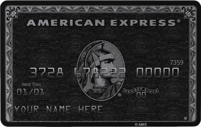 create a photo of a personalized AMEX black card for you.