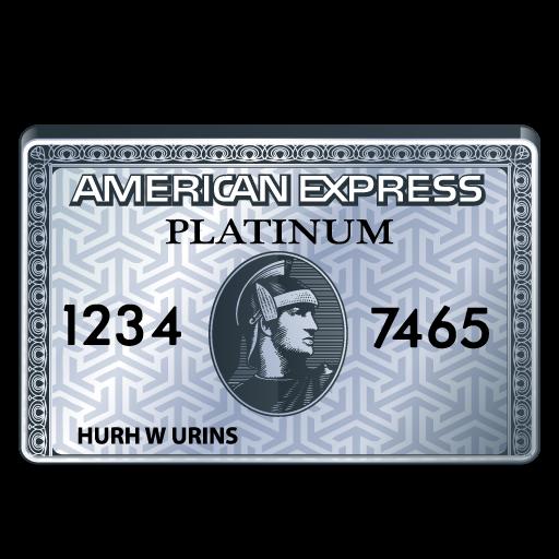american express platinum card icon.