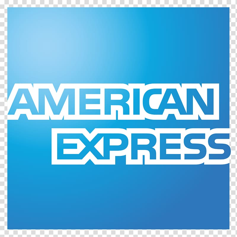 American Express text on blue blue background, American.